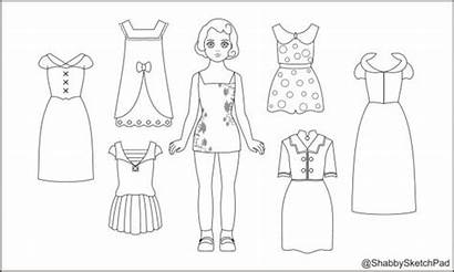 Paper Coloring Dolls Doll Pages Template Princess