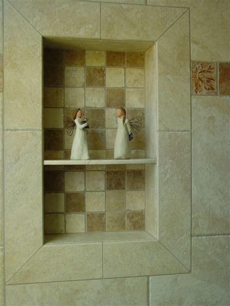 bathroom floor shelves tile shower shoo niche soap dish and shoo recess