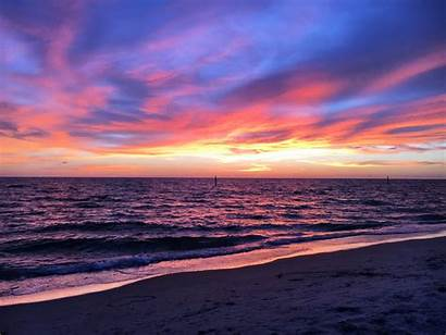 Sunset Beach Ocean Sky Sea Sun Water