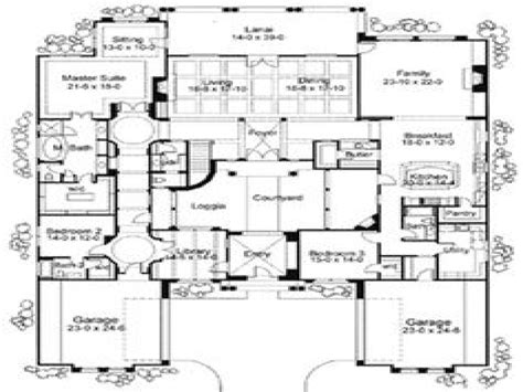 home plans with courtyards courtyard house plans home mansion