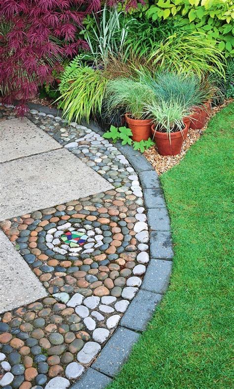 how to make pebble mosaic and stepping stones for