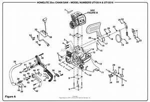 Homelite 33cc Chain Saw Ut