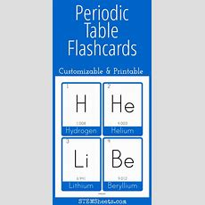 Periodic Table Of Elements Flashcards  Customize & Print Or Study Online  Science Stem