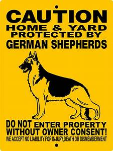 "German Shepherd Dog Sign 9""x12"" Aluminum Sign Guard Dog ..."