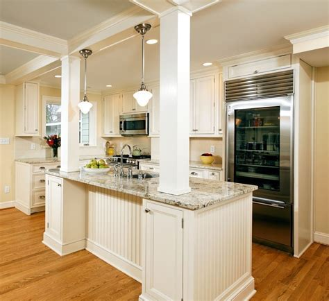 dc metro load bearing columns kitchen traditional with