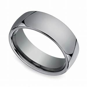 comfort fit men39s wedding ring in tungsten 7mm image 01 With mens wedding rings comfort fit