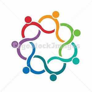 People Logo seven persons in circle clip art. Concept for ...