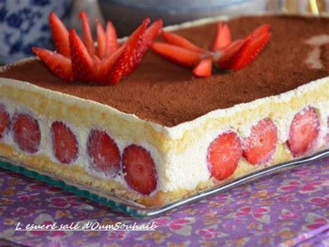 recettes de genoise  fraises