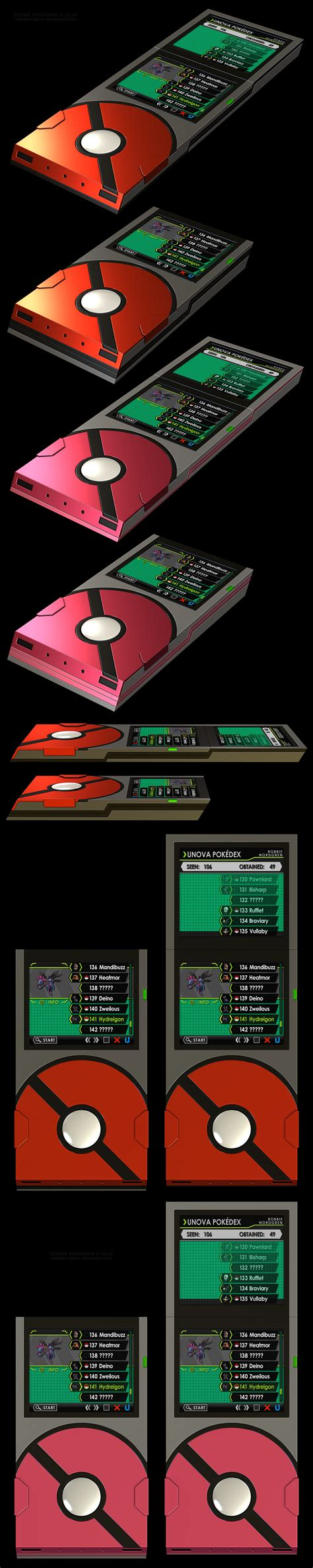Unova Pokedex 3d 5th Generation By Robbienordgren On