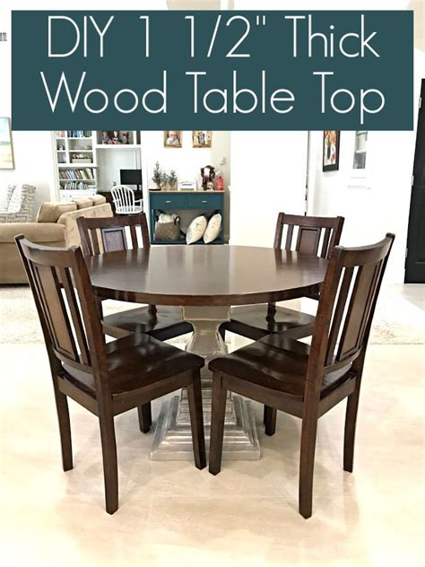 Get maple table tops custom cut to size and detailed by hand. DIY Round Table Top, Using Plywood Circles - Abbotts At Home