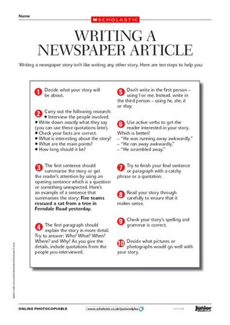 how to write a newspaper article exle at http