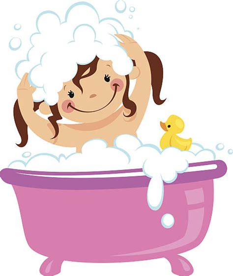 is it bad to take a shower everyday best taking a bath illustrations royalty free vector