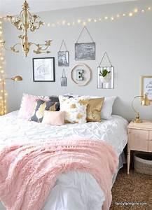 Tumblr Zimmer Lichterketten : girls bedroom makeover with pink and gold tumblr zimmer pinterest bedroom girls bedroom ~ Eleganceandgraceweddings.com Haus und Dekorationen