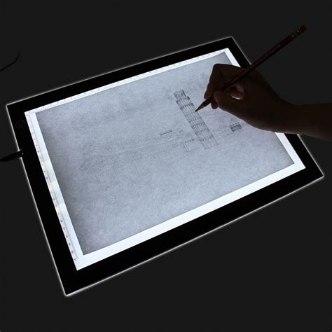 art light box for drawing homcom 19 quot led artist stencil board tattoo drawing tracing