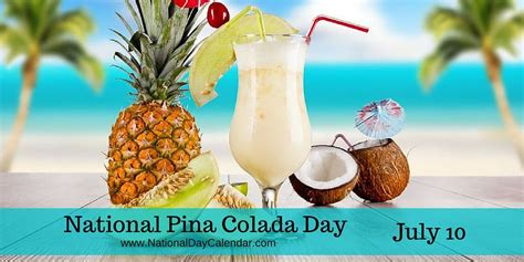 national pina colada day july national day calendar