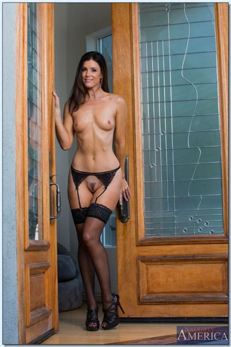 Stunning And Beautiful Brunette Woman In Stockings Photos