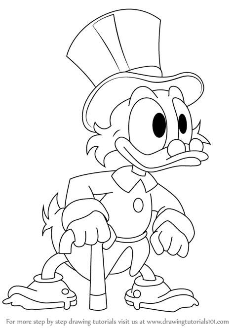 step  step   draw scrooge mcduck  ducktales