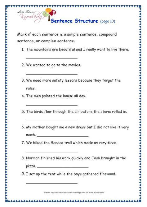 paragraph correction worksheet beautiful sentence patterns
