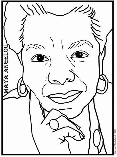 Angelou Coloring Maya Pages Printable Woman Phenomenal