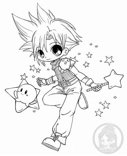 Yampuff Deviantart Chibi Coloring Pages Cloud Kirby