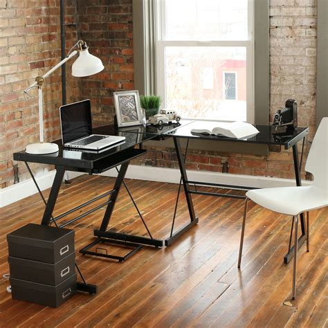 amazon com walker edison 3 piece contemporary desk multi