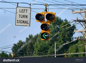 Signal Left Turn Sign