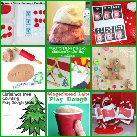 60 play dough fall winter centers and activities for 488   Christmas Play Dough Centers and Activities for Preschoolers 1024x1024