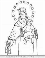 Coloring Lady Carmel Mt Mary Maria Fatima Sheet Kolorowanki Sheets Rosary Mount Catholic Colouring Guadalupe Madonna Template Saint Colorare Thecatholickid sketch template