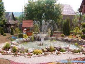 Garden Landscape Ideas by Landscape Garden Design With Fountain