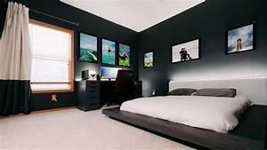 Modern Clean  U0026 Minimal Tech Bedroom Office Tour