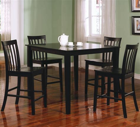 Black Dining Set by Coaster Ashland 5 Counter Height Dining Set Value