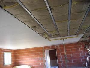 Pose De Placo Sur Rail : plafond placo maison travaux ~ Carolinahurricanesstore.com Idées de Décoration
