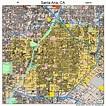 Santa Ana California Street Map 0669000