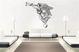 Wandtattoo Auf Rauputz : wandtattoo engel mit posaune motiv nr 1 kaufen bei ~ Michelbontemps.com Haus und Dekorationen