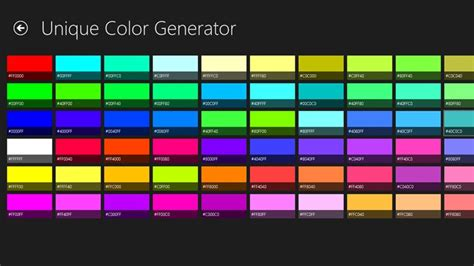 Unique Color Generator For Windows 10 Free Download On