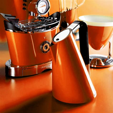 A special electronic control equipped with all functions allows the kettle to reach the desired water temperature (between 45c and 100c) and guarantees consistent and efficient heating for the preparation of every hot drink. Buy Casa Bugatti Touch Sense Vera Kettle - Orange | AMARA