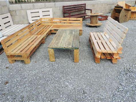 fabrication d un canapé fabrication d 39 un salon de jardin en palettes meubles de