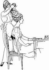 Hairdresser Drawing Clipart Dresser Female Etc Aldred Diane Styling sketch template