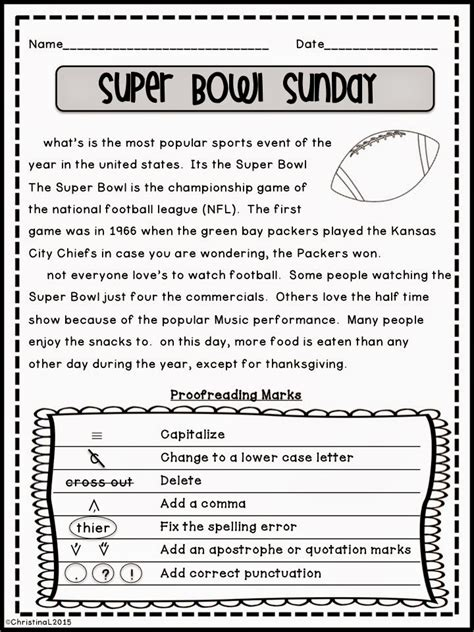 proofreading paragraph worksheets 3rd grade run on
