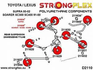 Toyota Supra Rear Suspension Bush Kit Sport Polyurethane Strongflex