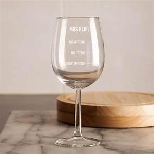 Customised Teacher's Engraved Wine Glass Forever Bespoke