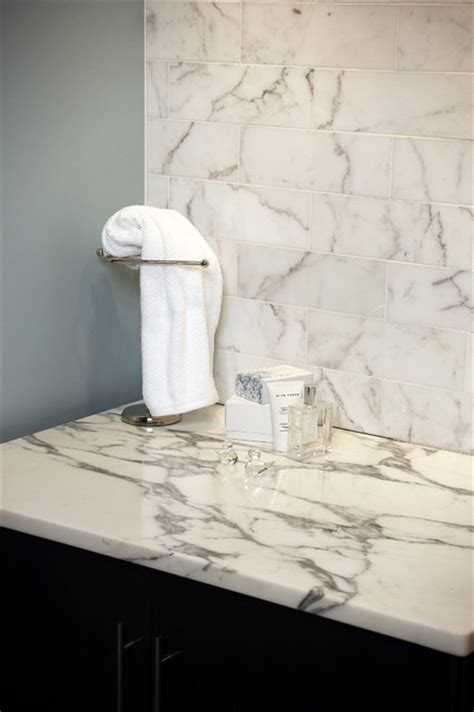 statuary white vanity transitional bathroom chicago