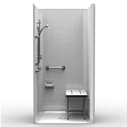 Ada Transfer Shower  One Piece 40x38  Classic Tile Look