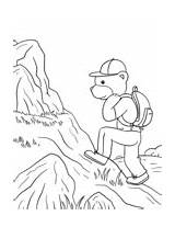 Coloring Hiking Camping Pages Bear sketch template