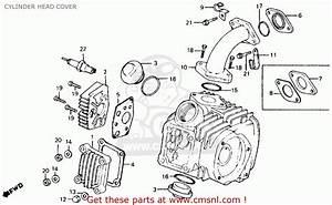 Honda Ct110 Trail 110 1984 Usa Cylinder Head Cover