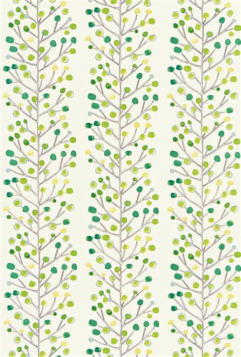 berry tree  scion green wallpaper direct