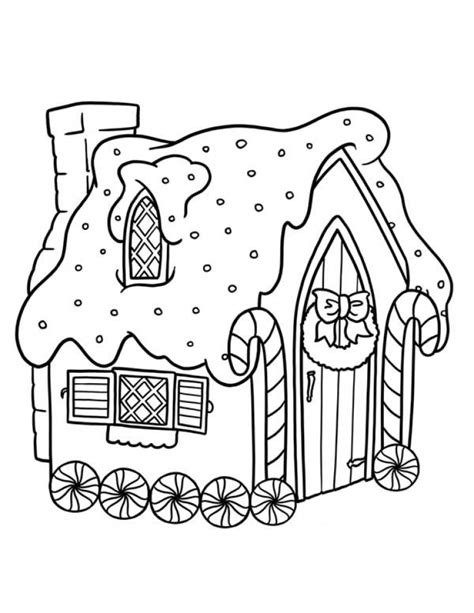 Get This Easy Gingerbread House Coloring Pages for
