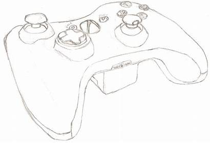 Xbox Controller Drawing 360 Coloring Pages Drawings