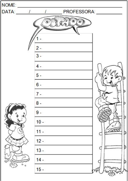 atividades ditado de palavras para alfabetizar bela feliz