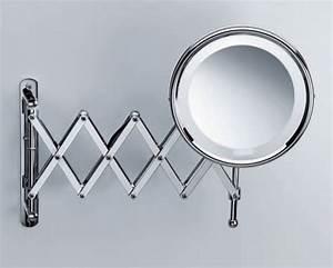 miroir salle de bain grossissant lumineux mural idees de With miroir salle de bain grossissant mural